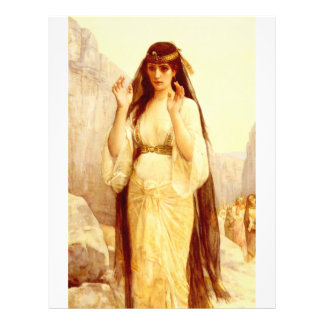 "Cabanel Alejandro la hija de Jephthah 1879 Folleto 8.5"" X 11"""