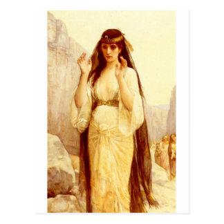 Cabanel Alejandro la hija de Jephthah 1879 Tarjeta Postal