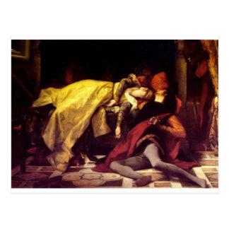 Cabanel Alejandro la muerte de Francisca de Rímini Tarjeta Postal