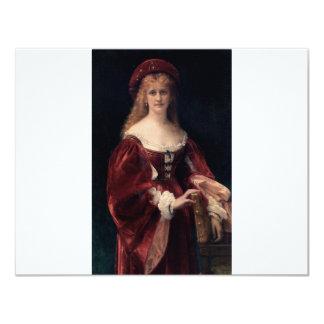 Cabanel Alexandre Patricienne De Venise 1881 4.25x5.5 Paper Invitation Card