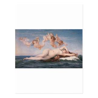 Cabanel el nacimiento de Venus 1863 Postal