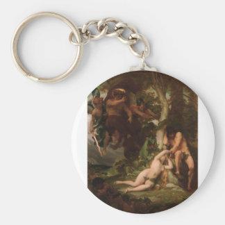 Cabanel la expulsión de Adán y de Eva del Llavero Redondo Tipo Pin