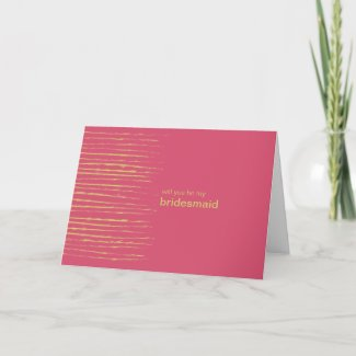 Cabaret Be My Bridesmaid Invitation Card card