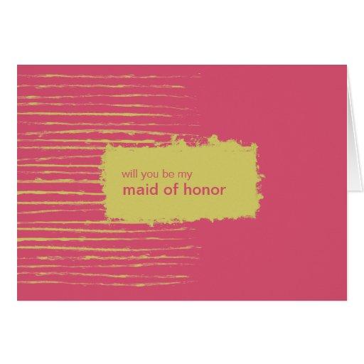 Cabaret Be My Maid of Honor Invitation Card