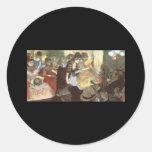 Cabaret de Edgar Degas Etiqueta Redonda