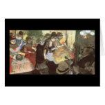 Cabaret de Edgar Degas Tarjetón