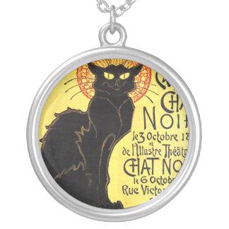 Cabaret du Chat Noir, Steinlen Round Pendant Necklace