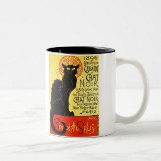 Cabaret du Chat Noir, Steinlen Two-Tone Coffee Mug