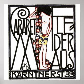 Cabaret en la impresión del poster del vintage de