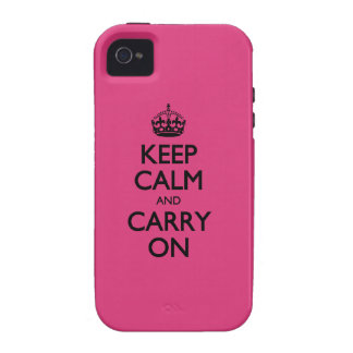 Cabaret Keep Calm And Carry On iPhone 4 Cases