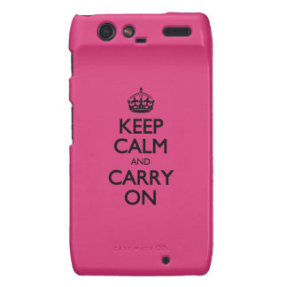 Cabaret Keep Calm And Carry On Motorola Droid RAZR Cover