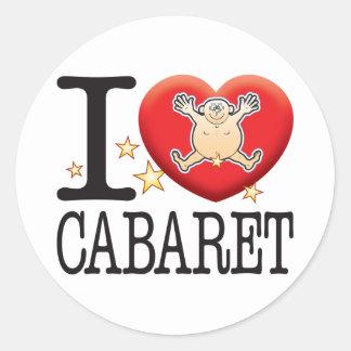 Cabaret Love Man Classic Round Sticker