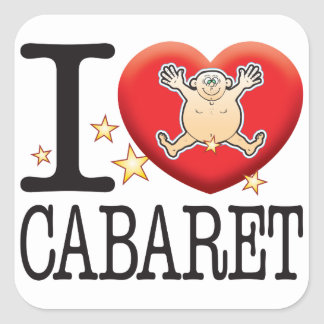 Cabaret Love Man Square Sticker