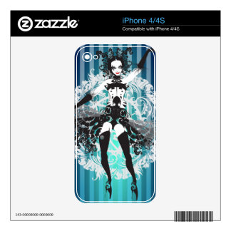 Cabaret Mardi Gras Girl Zazzle Skin Decals For The iPhone 4S