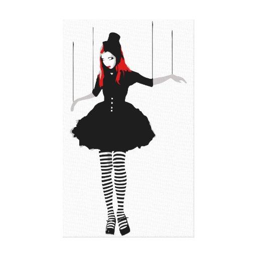 cabaret marionette canvas prints