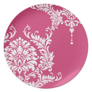 Cabaret Raspberry White Damask 2012  Color Plate