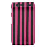 Cabaret Red Fuchsia And Vertical Black Stripes S4 Droid RAZR Cases