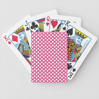 Cabaret Red Fuchsia And White Mesh Bicycle Card Deck
