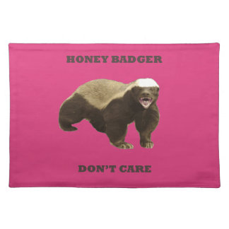 Cabaret Red Fuchsia Honey Badger Don't Care Placemats