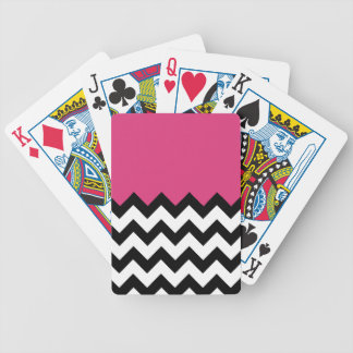 Cabaret Red On Chevron Bicycle Card Template Card Decks