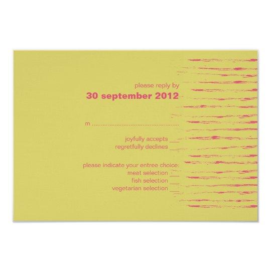 Cabaret & Sundance RSVP Card Invitation