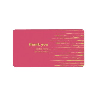Cabaret Thank You Gift Sticker label