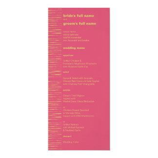"""Cabaret y menú del boda de Sundance Invitación 4"""" X 9.25"""""""