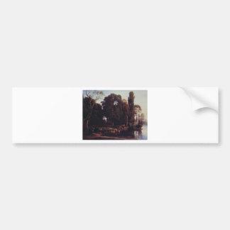 Cabat Nicolas Pastoral Scene Bumper Sticker
