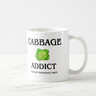 Cabbage Addict Classic White Coffee Mug