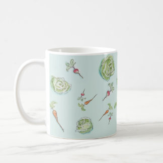 cabbage and carrots and radishes oh my coffee mug