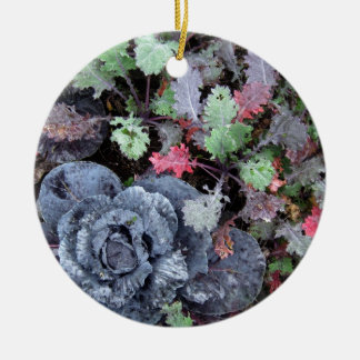 Cabbage and Kale - Photograph Ceramic Ornament