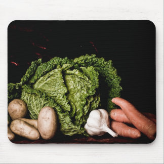 cabbage and vegetables mouse pad