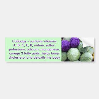 Cabbage bumper sticker