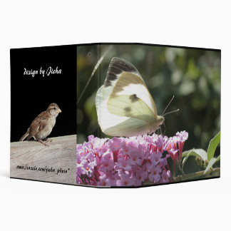 cabbage butterfly on syringa 3 ring binder