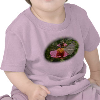 Cabbage Butterfly on Zinnia Baby T-Shirt