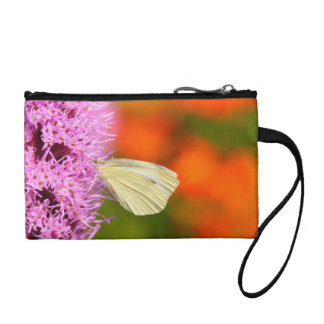 cabbage butterfly with orange background change purse