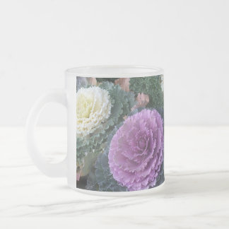 Cabbage Delight Frosted Glass Coffee Mug