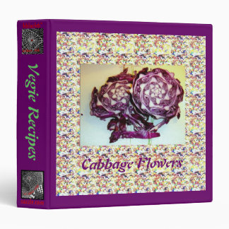 Cabbage Flowers 3 Ring Binder