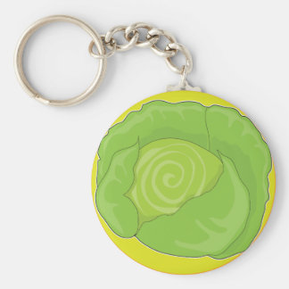 Cabbage Graphic Keychain