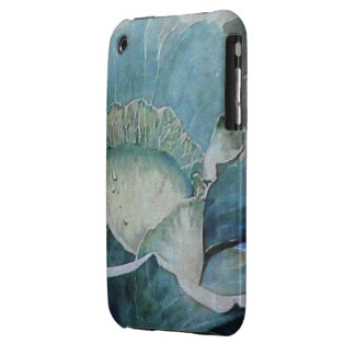 Cabbage Head in Watercolor iPhone 3 Cases