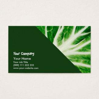 Cabbage leaf business card