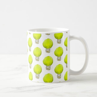 Cabbage Light Bulb Pattern Coffee Mug