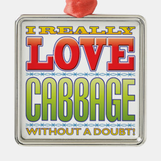 Cabbage Love Metal Ornament