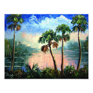 Cabbage Palm River Reflections9by12Nov13th2009 Card