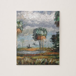 Cabbage Palm Trees and Birds Puzzle