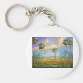 Cabbage Palms in Florida Keychain