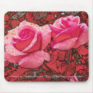 Cabbage Patch Roses Mouse Pad