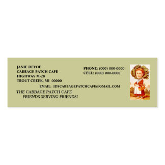 CABBAGE PATCH WOMAN CAFE RESTAURANT BUSINESS CARDS
