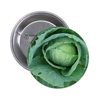 Cabbage Pinback Button