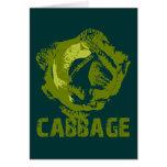 Cabbage Pop Art Card